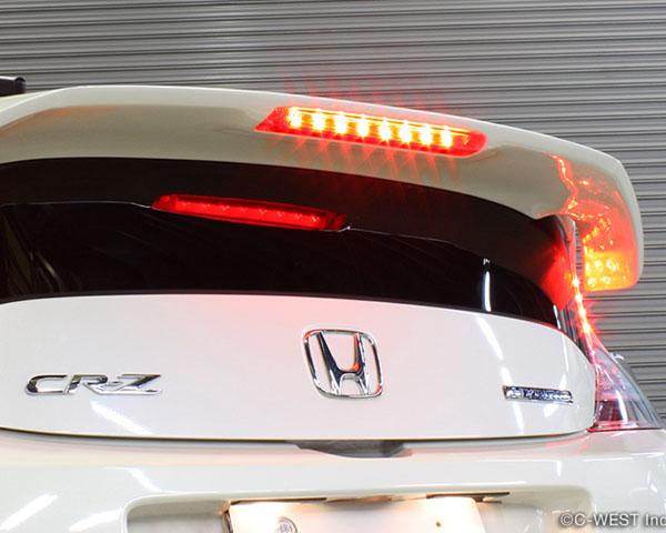 C West Rear Spoiler With Brake Light ABS Black Honda CR Z 11