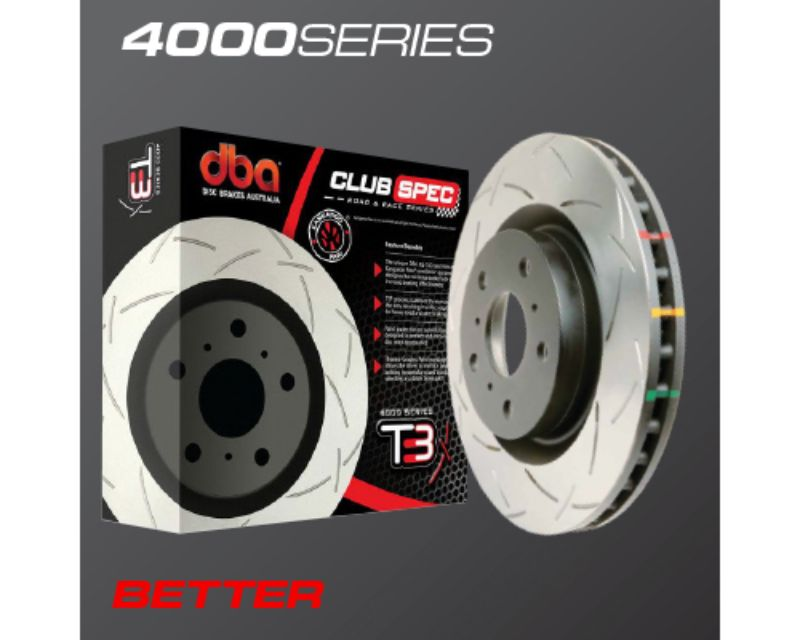 DBA 4000 Series Cross Drilled & Dimpled Rear Brake Rotor BMW 1M E82 11-12 - 42281XD