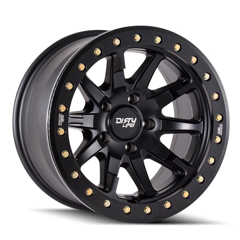 Dirty Life DT-2 9304 Matte Black 17X9 6x135 -12mm 87.1mm Wheel - 9304-7936MB12