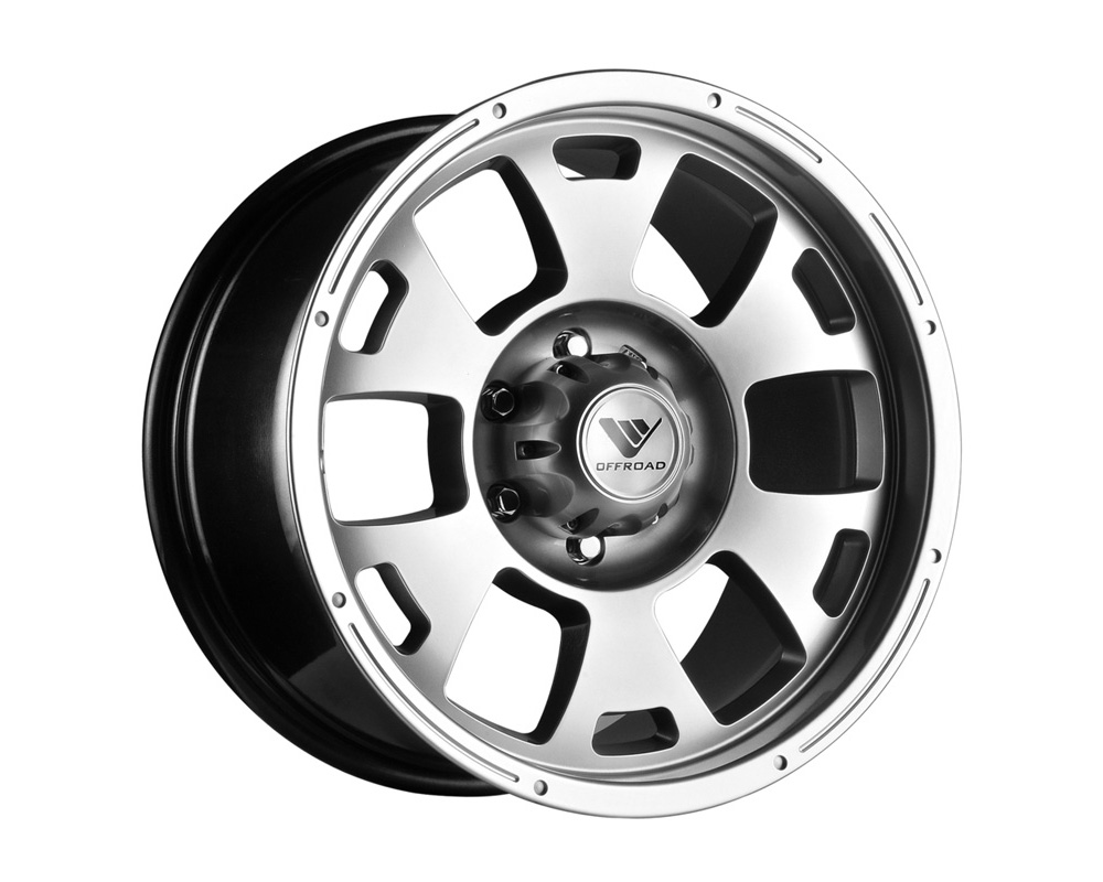 Velox Ravine Metallic Silver Wheel 17x8.5 8x170 12 - VE508103