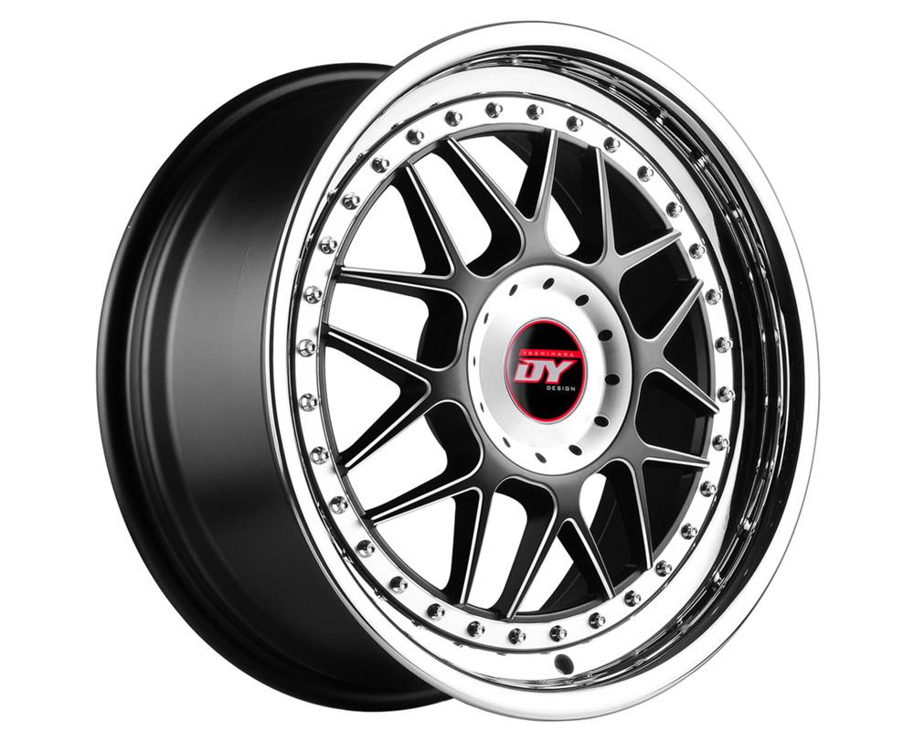Yoshihara D-37C Matte Black w/Chrome Lip Wheel 18x8 5x120/112 30 - D371880023