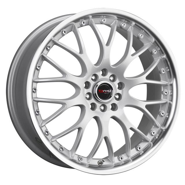 Drag DR-19 Silver Machined Lip Wheel 17x8 5x100/114.3 45 - DT-45374