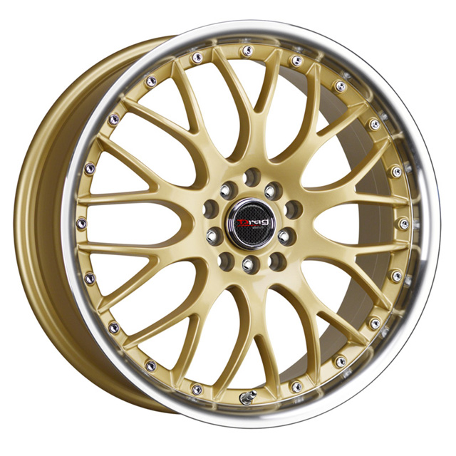 Drag DR-19 Gold Machined Lip Wheel 17x8 5x100/114.3 45 - DT-47199