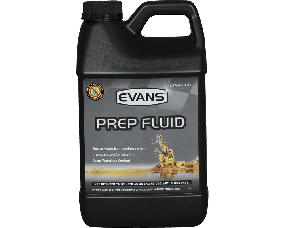 Evans Waterless Fluid PREP Fluid Half Gallon