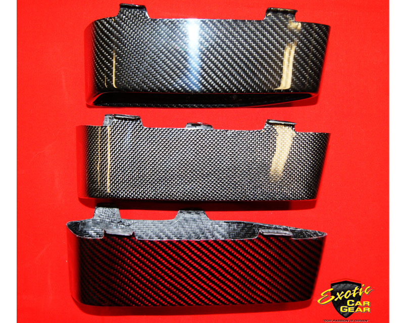 Exotic Car Gear Carbon Fiber Yellow-Black Tailpipe Finishers for McLaren 650S 2015 - ECG-MCL-C519Y