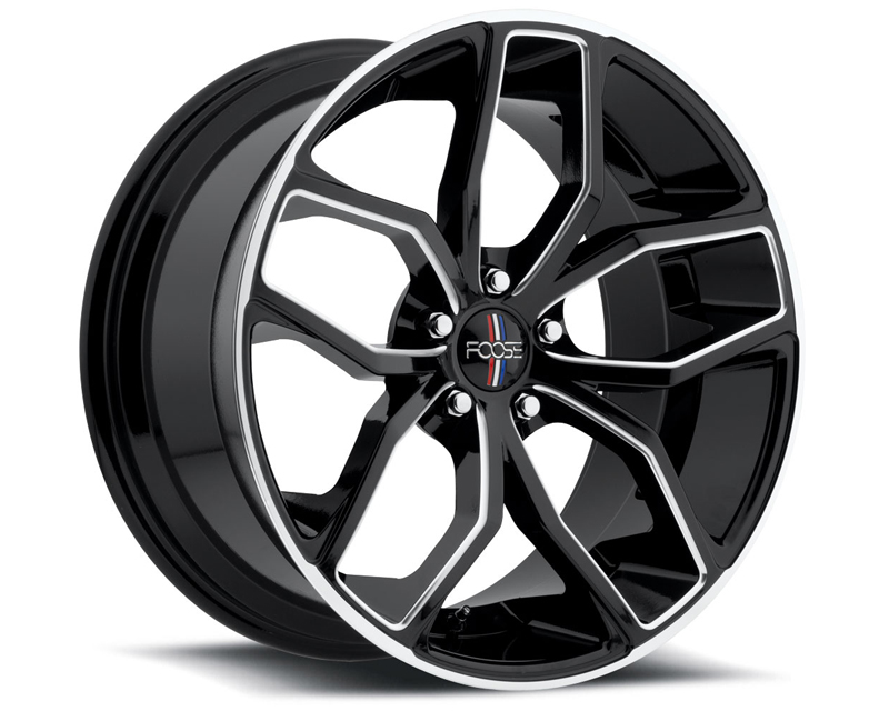 FOOSE Outcast F150 Gloss Black with Milled Spokes & Lip Wheel 20x10 5x114.3 +40mm - F150200066+40