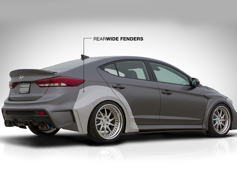 ARK Solus Rear wide Over Fenders with Bumper Extensions Hyundai Elantra 16-17