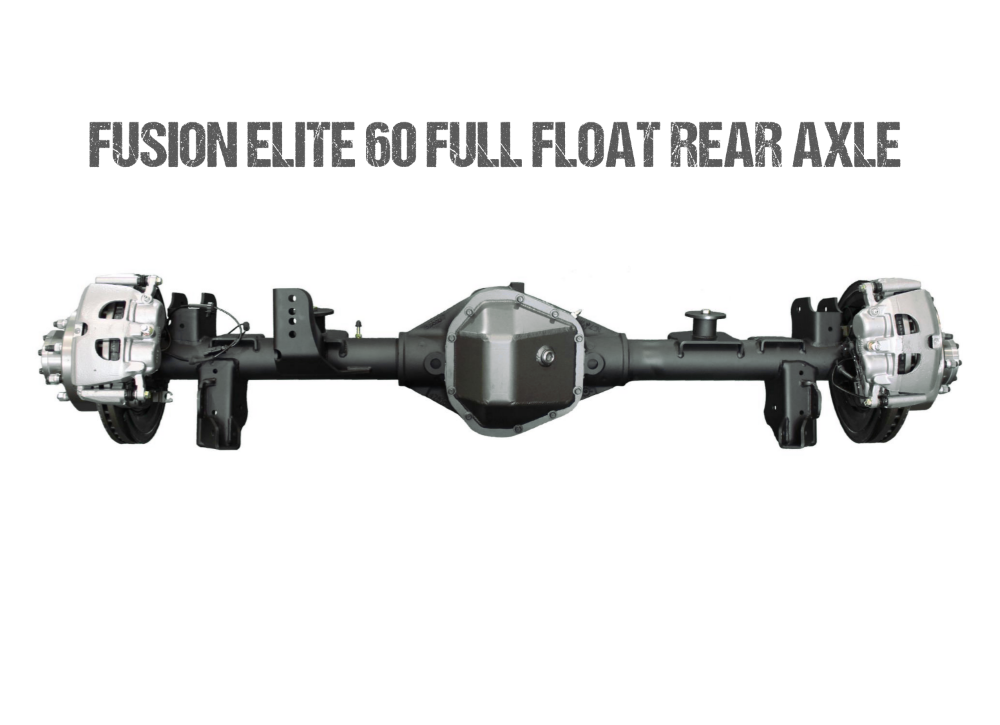 Jeep Gladiator Axle Assembly Fusion Elite 60 Full Float Rear Axle Assembly 20-Pres Jeep Gladiator JT Gear Ratio 4.56 Eaton E-Locker Fusion 4x4 - FUS-FF60-JT-ELC-456