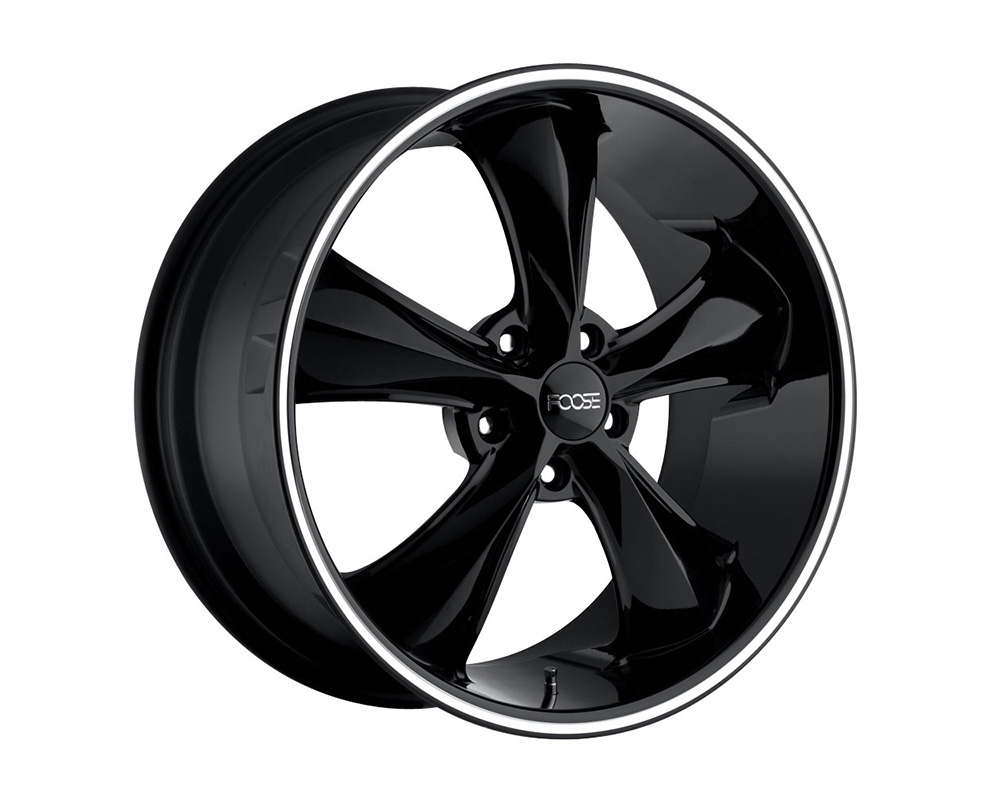Foose F104 Legend Gloss Black w/ Lip Groove 1-Piece Cast Wheel 20x8.5 5x127 07mm - F10420857350