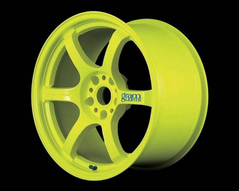 GramLights Fluorescent Yellow 57D Wheel 17x9 5-114.3 12mm - WGDQ12EY