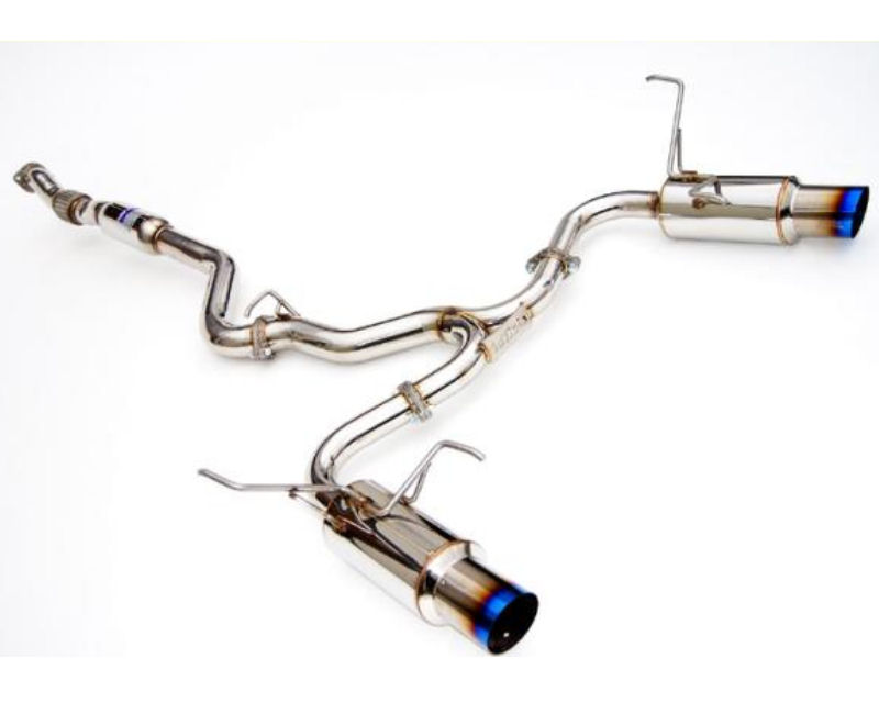 Invidia Dual N1 Catback Exhaust with Burnt Titanium Tips Subaru Forester XT 09-14