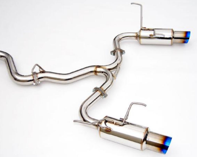 Invidia Dual N1 Catback Exhaust with Burnt Titanium Tips Subaru WRX STI Sedan 2015