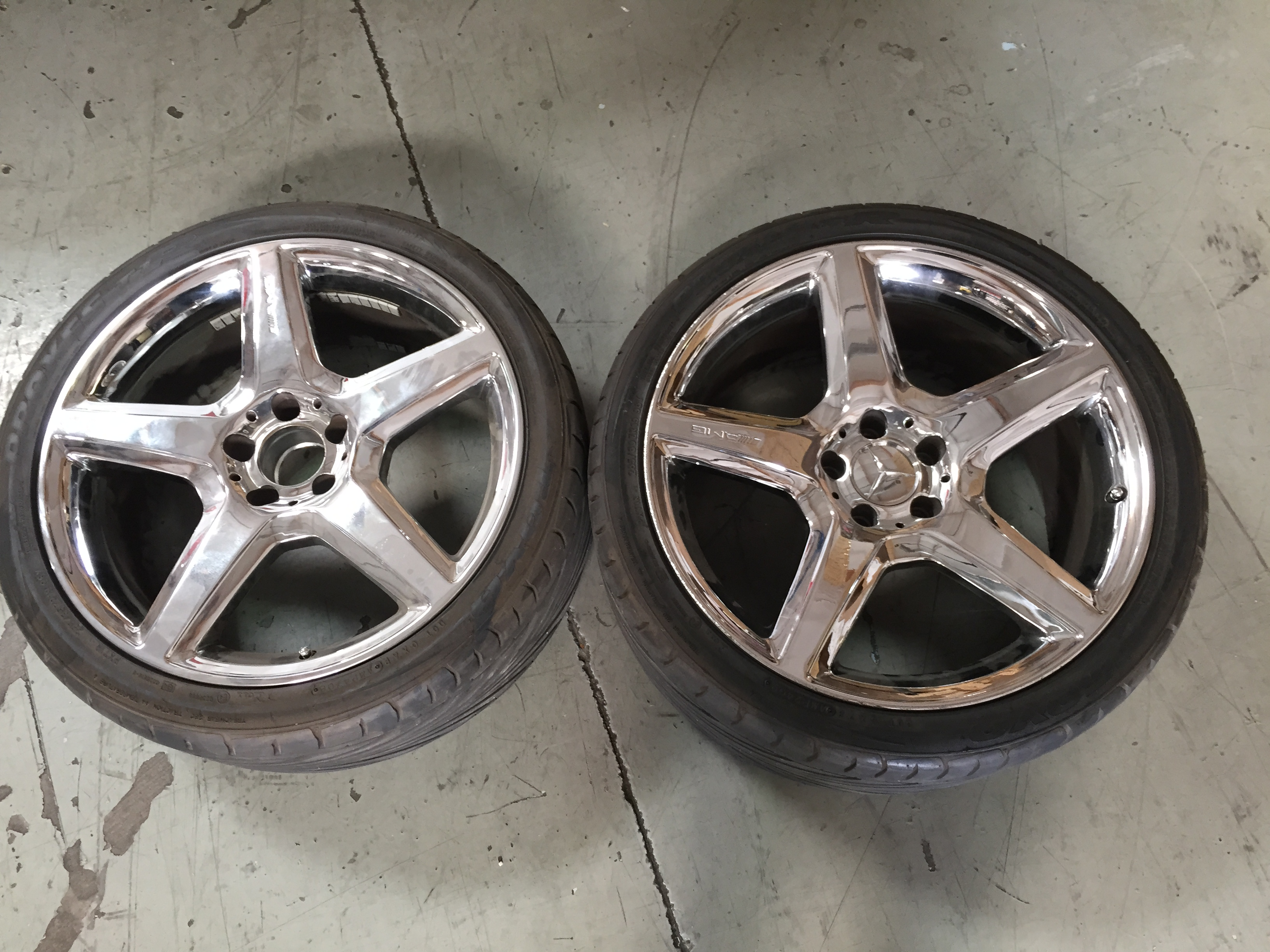 Used Mercedes AMG 5 Star Wheels with Tires CLEARANCE