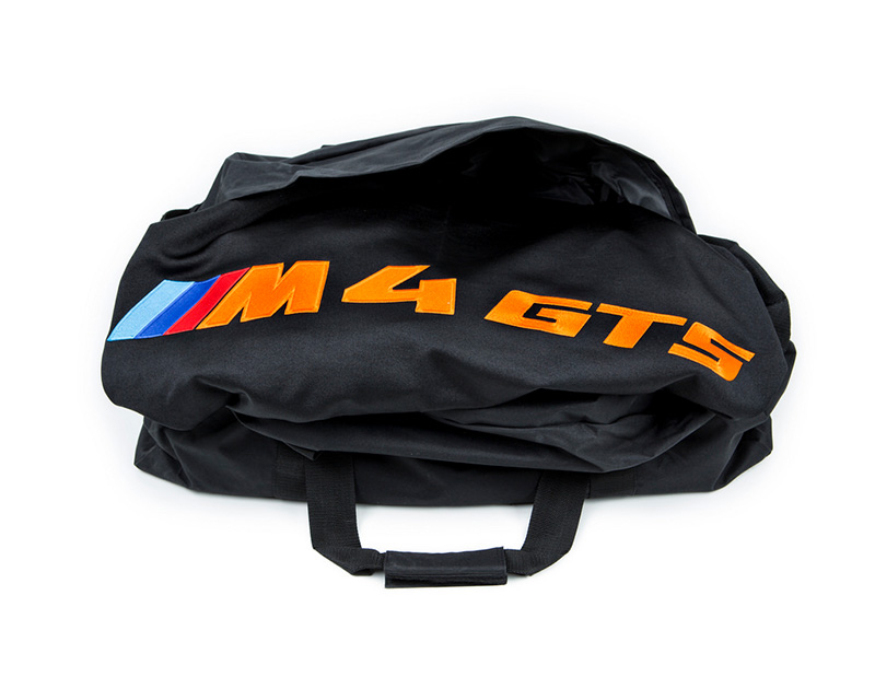 RKP M4 GTS Car Cover Black with Orange Lettering BMW F82 M4 GTS 16-17