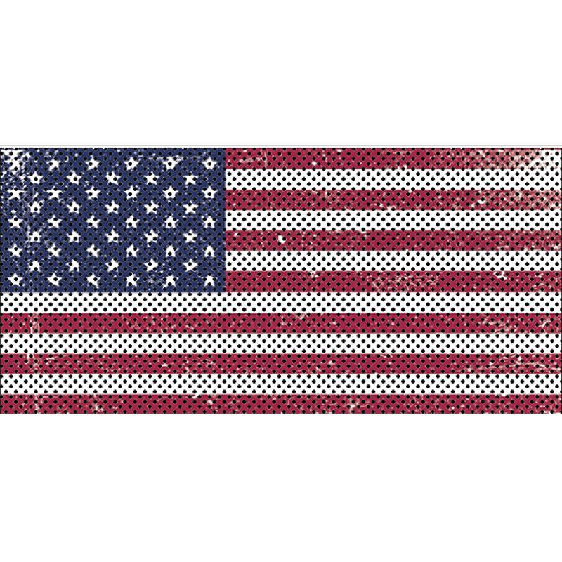 Jeep Gladiator Grill Inserts 2020-Present Gladiator Distressed Old Glory Under The Sun Inserts - INSRT-DTROG-JT