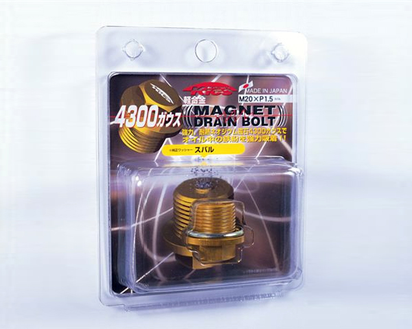 KICS Magnetic Drain Bolt Yellow M20x1.50 Subaru