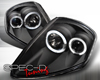 SpecD Black Dual Halo Projector Headlights Mitsubishi Eclipse 00-05