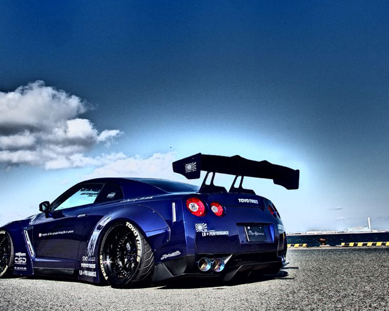 liberty walk rear wing version 1 nissan gt r r35 09 18. Black Bedroom Furniture Sets. Home Design Ideas