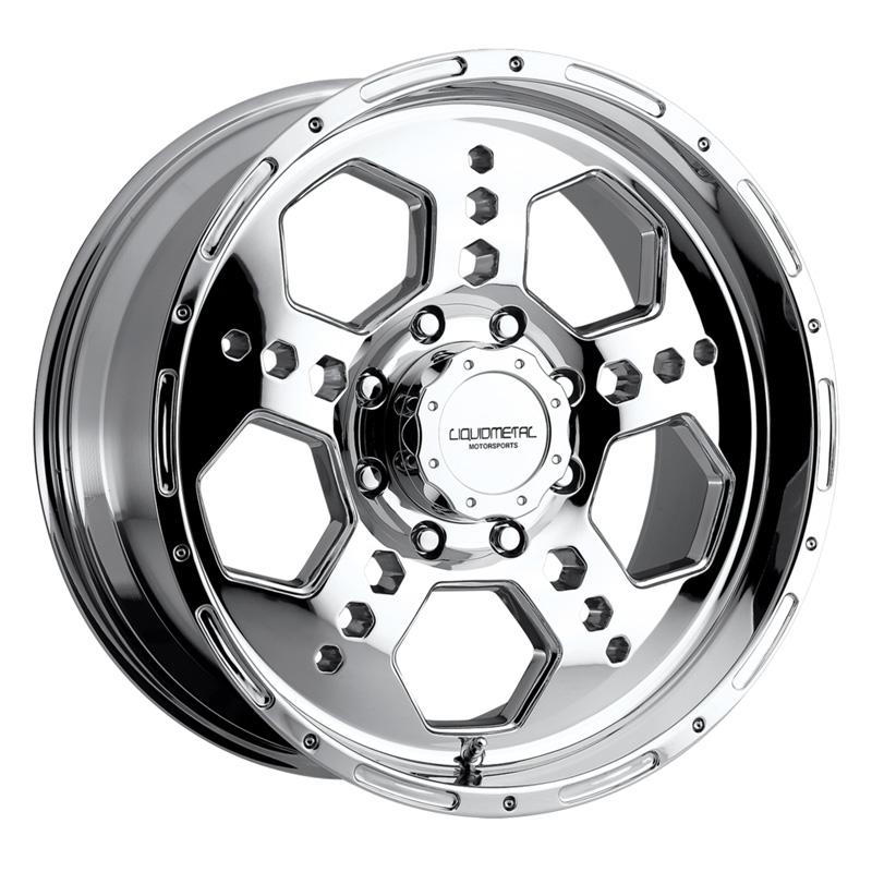 Liquid Metal Gatlin Chrome Wheel 22x10 8x165.1 10mm - DT-49205