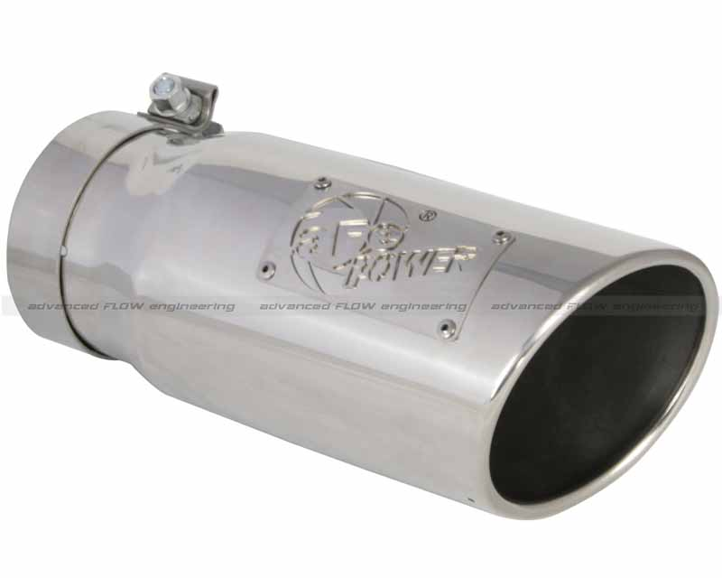 aFe Power MACH Force XP Polished Stainless Steel Tip 4 In x 5 Out x 12 L in