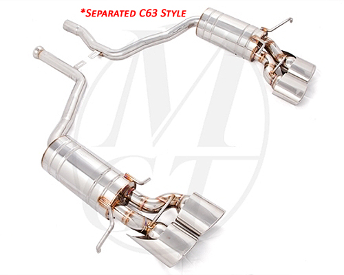 Meisterschaft Stainless GT Racing Exhaust 4x120x80mm Mercedes-Benz C300 | C350 V6 Sedan 08-11 - ME0221218