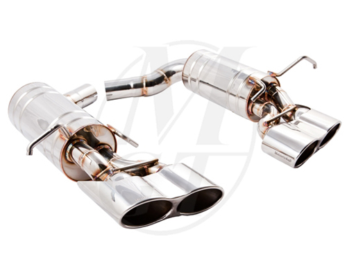 Meisterschaft Stainless HP Touring Exhaust 4x120x80mm Separated Oval Tips Mercedes-Benz C63 AMG Sedan 08-11 - ME0251118
