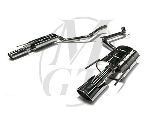 Meisterschaft Stainless GT Racing Exhaust 2x120x80mm Tips Mercedes-Benz CL600 V12 Bi-Turbo 07-10 - ME1021231