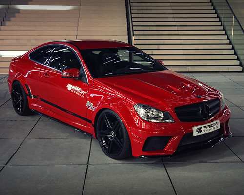 Prior Design BLACK EDITION Widebody Kit Mercedes C63 Coupe 12-14