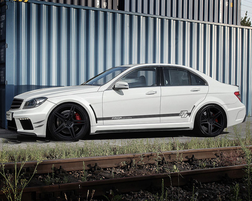 Prior Design BLACK EDITION Widebody Kit Mercedes C63 Sedan 12-14