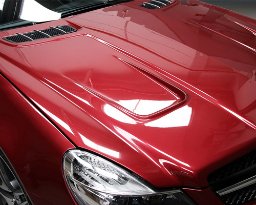 Prior Design Black Edition Vented Hood Mercedes SL R230 02-12