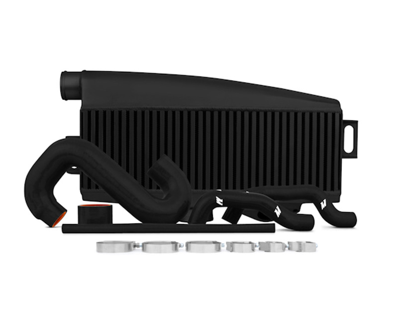 Mishimoto Black Top-Mount Intercooler with Red Hoses Subaru WRX 2.0L 02-05