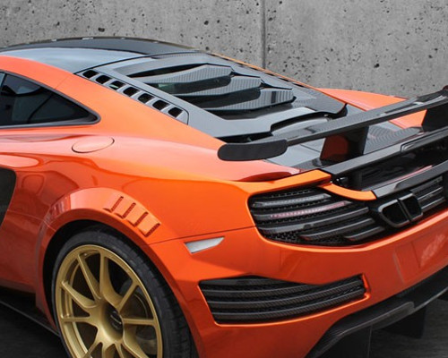 Mansory Carbon Fiber Engine Air Outtake Bonnet McLaren MP4-12C 12-14
