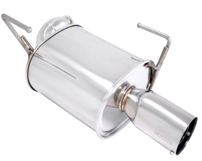 Megan Racing Axle Back Exhaust System with Single 4inch Stainless Tip and Silencer Subaru Legacy 10-15
