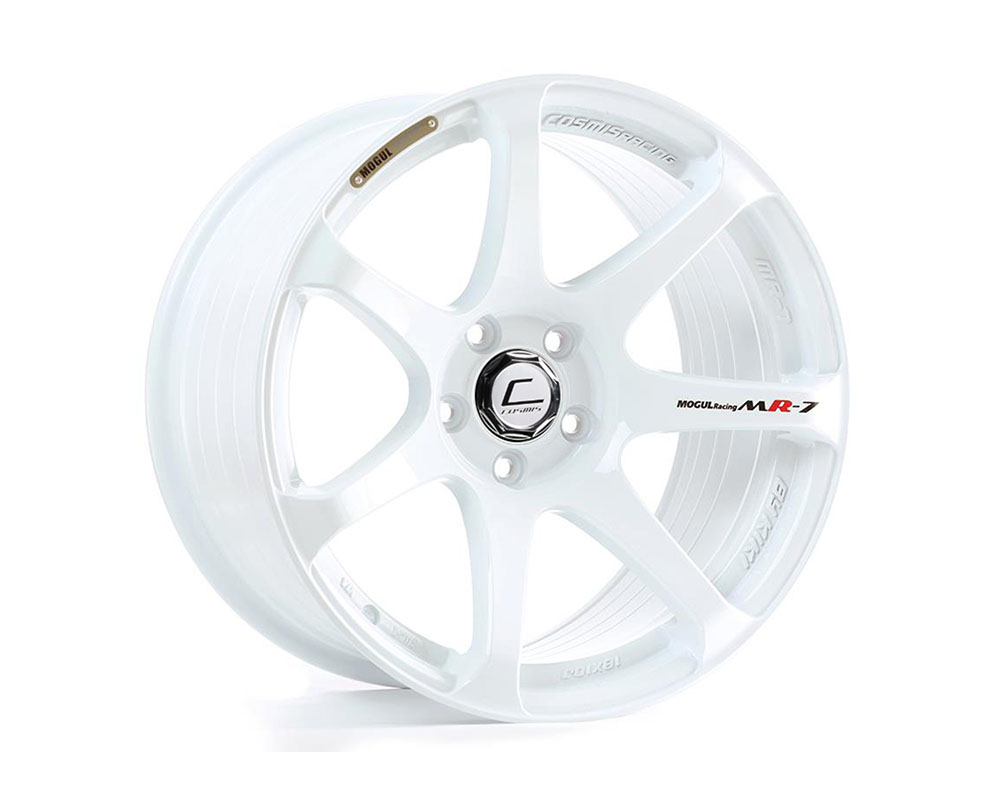 Cosmis Racing MR7 Wheel 18x10 5x114.3 +25mm White - MR7-1810-25-5x114.3-W