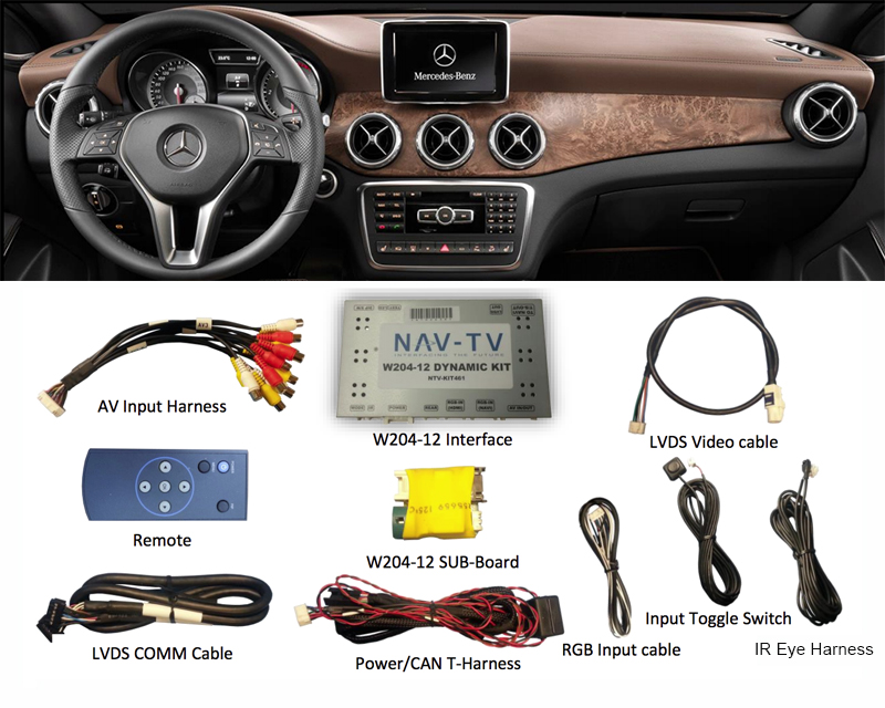 NAV-TV Rear View Camera Integration Mercedez-Benz C Class 12-14