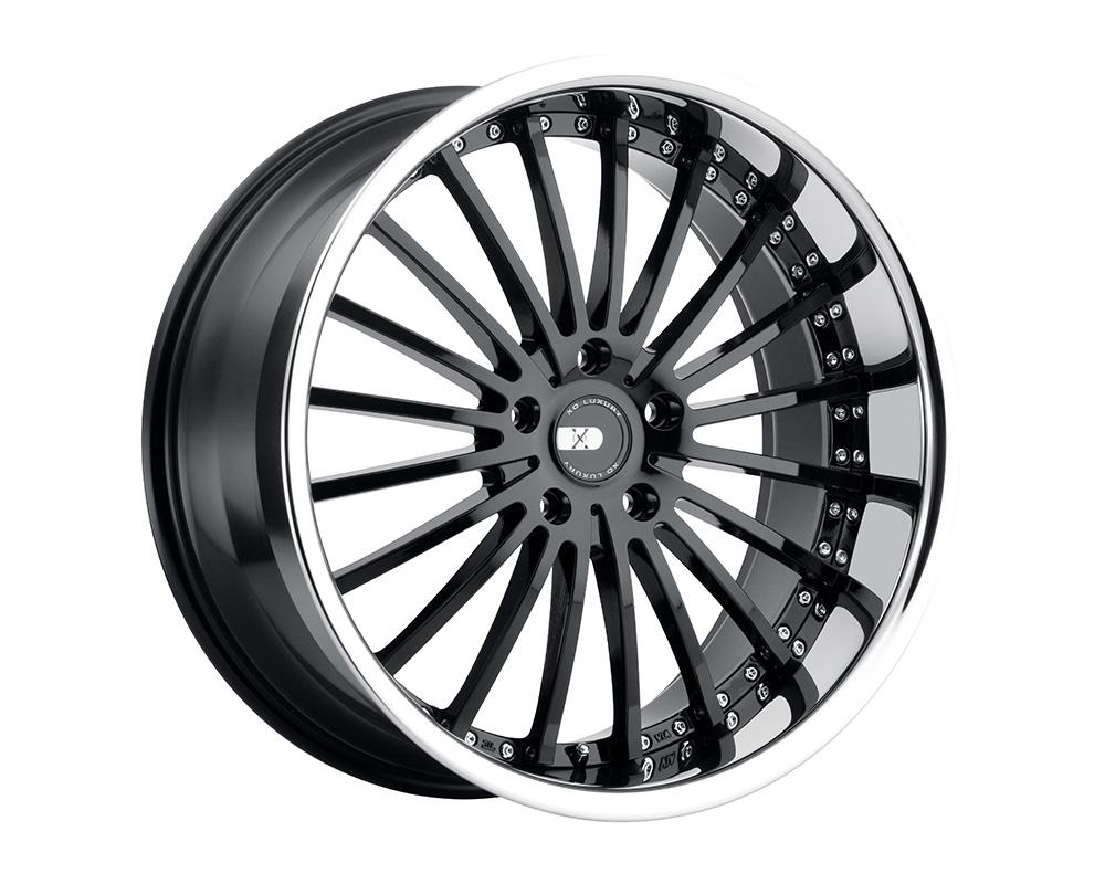 XO Luxury New York Wheel 22x9 5x112 32mm Gloss Black w/ Stainless Steel Lip - 2290NEW325112B66