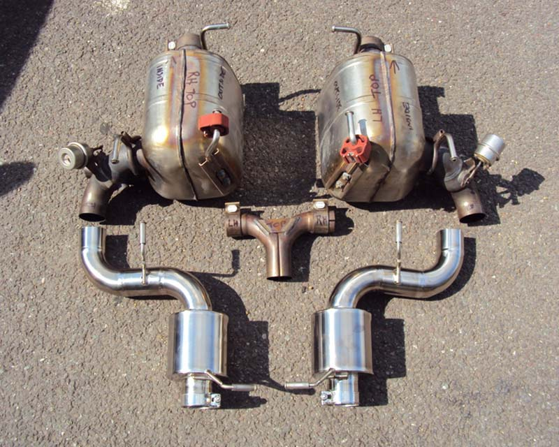 Oakley Design Stainless Exhaust with Valves For OE Tip Ferrari 458 Italia 10-15