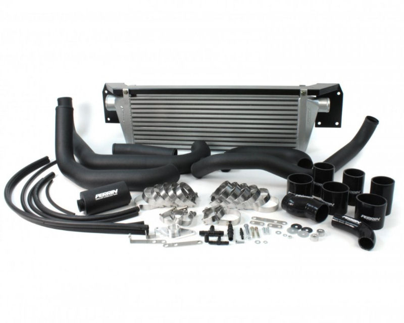 Perrin Performance Front Mount Intercooler and Boost Tube Box with Black Tubes and Black Couplers Subaru WRX 08-14