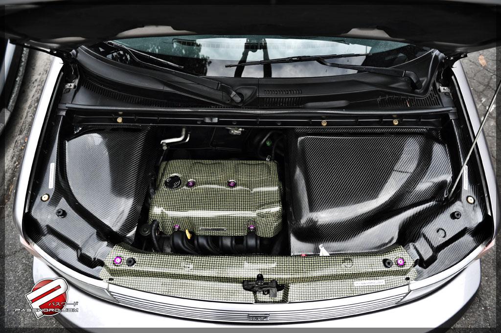 Password Jdm Dry Carbon Fiber Engine Compartment Covers