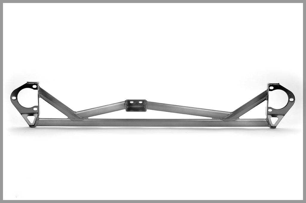 Password JDM 5 Point Front Strut Tower Bar White Mitsubishi EVO X 08-13