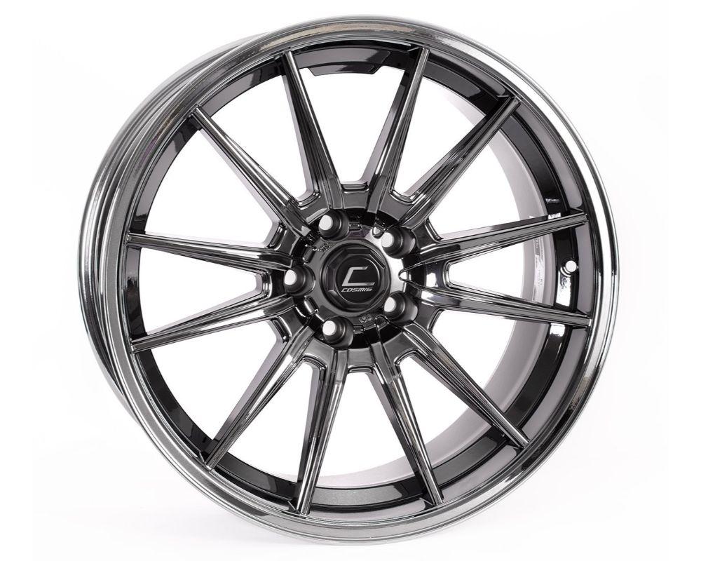Cosmis Racing R1 Pro Wheel 18x10.5 5x100 +32mm Black Chrome - R1PRO-18105-32-5x100-BC