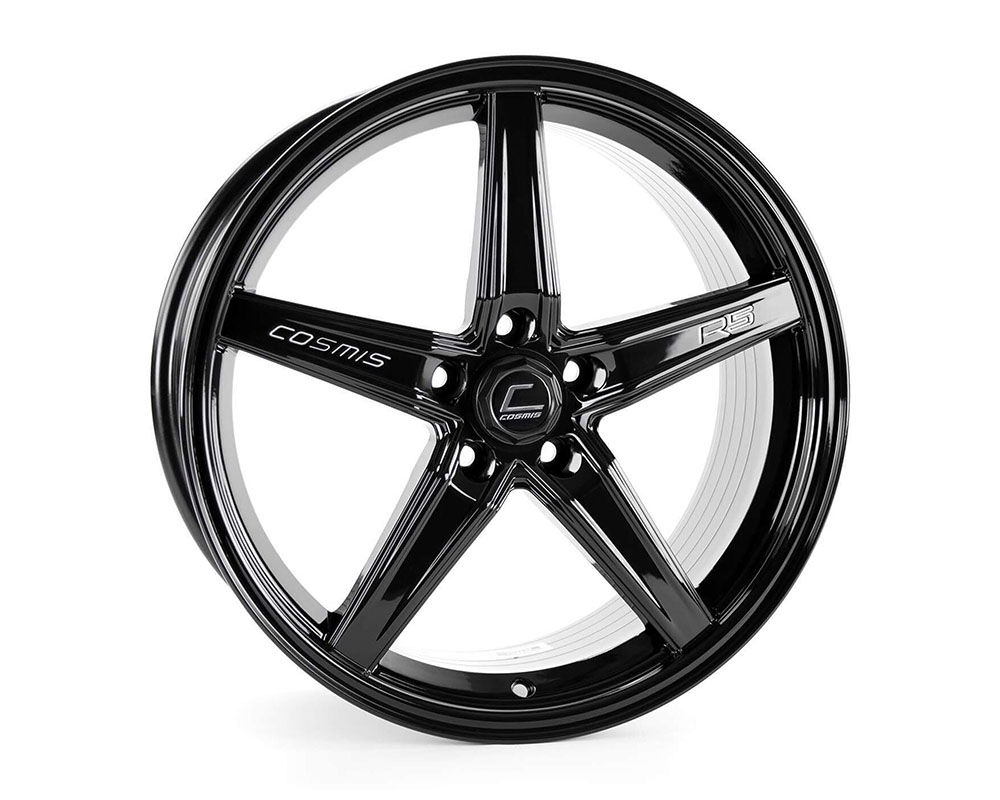 Cosmis Racing R5 Wheel 18x8.5 5x108 +40mm Black - R5-1885-40-5x108-B