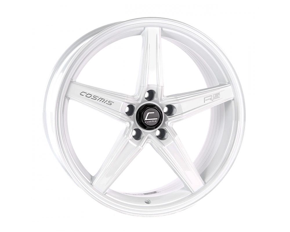 Cosmis Racing R5 Wheel 18x8.5 5x108 +40mm White - R5-1885-40-5x108-W