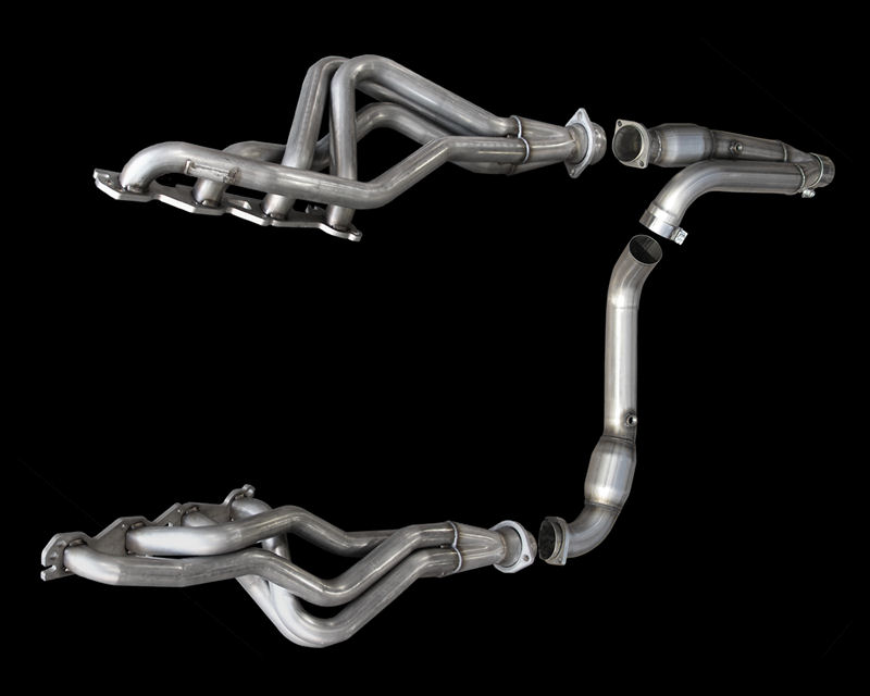 American Racing Square Port Header 1.75 inch x 3 inch with 3 inch Race Y-Pipe Dodge Ram 1500 Hemi 02-09 - RM25-02134300LSNC