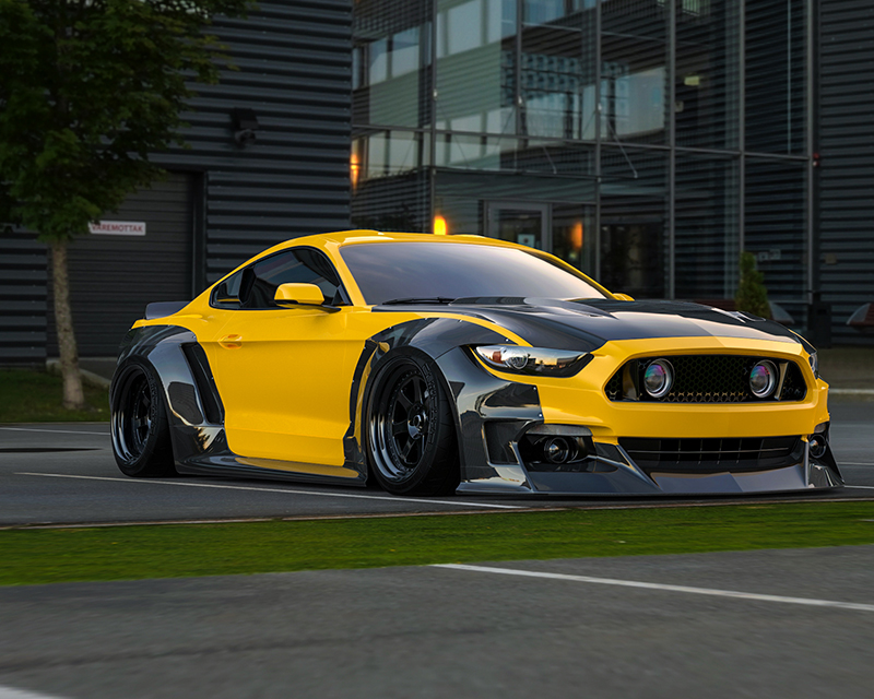 s550 cf clinched flares carbon widebody kit with ducktail spoiler ford mustang s550 gt gt350. Black Bedroom Furniture Sets. Home Design Ideas
