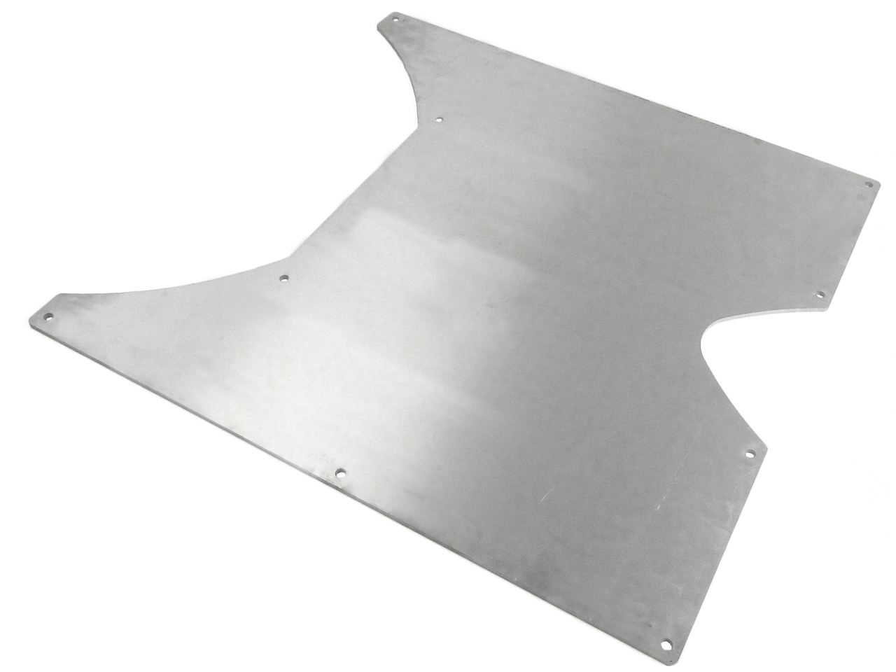 Jeep Skid Plate Belly Up 07-Pres Wrangler JKU 4 Door .3125 Thick 6061 Aluminum Bare GenRight