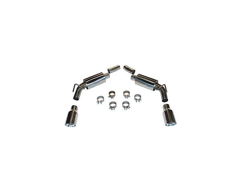 SLP Performance Axle-Back Exhaust Loud Mouth II with Square Tips Use with Factory Ground Effects Chevrolet Camaro 10-13