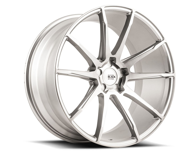 Savini di Forza Brushed Silver BM12 Wheel 19x10.5 5x108 17mm