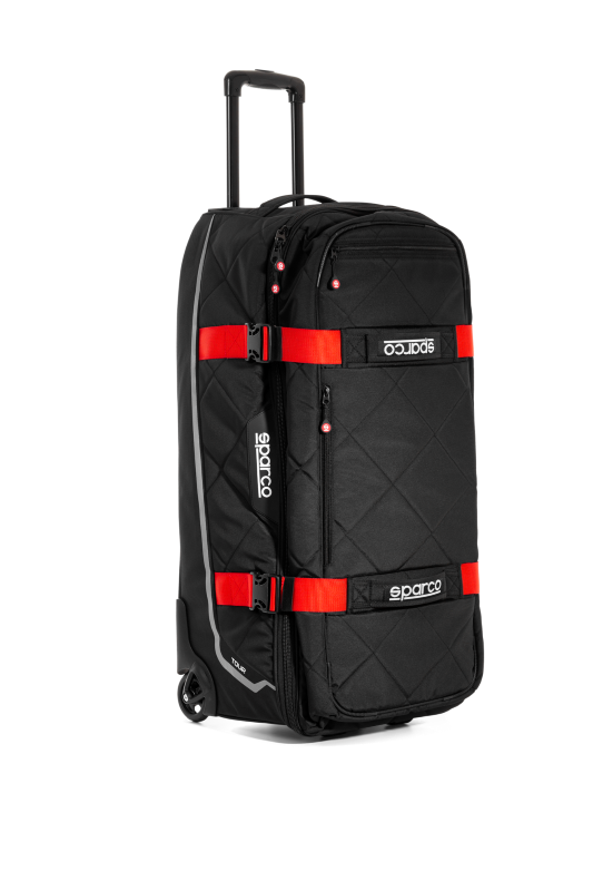 Sparco Black/Red Tour Rolling Duffle Bag - 016437NRRS
