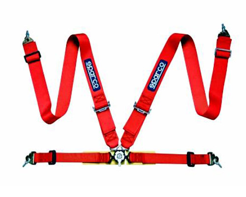 Sparco Competition 4-Point Harness Red